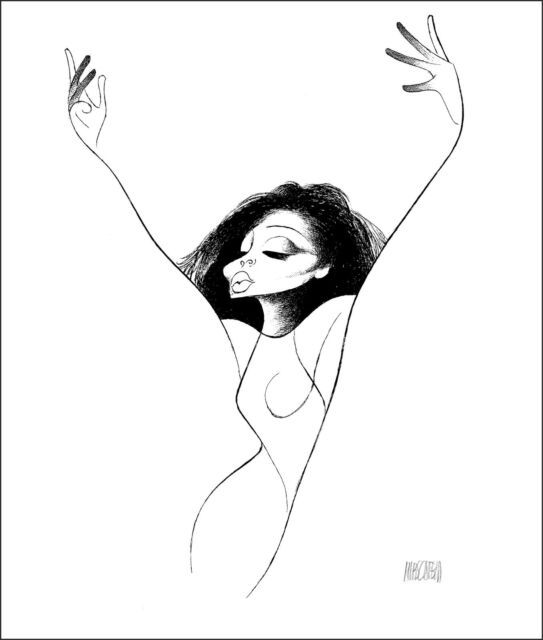 AL HIRSCHFELD Hand-Signed Limited Edition: DIANA ROSS; COA by MARGO FEIDEN