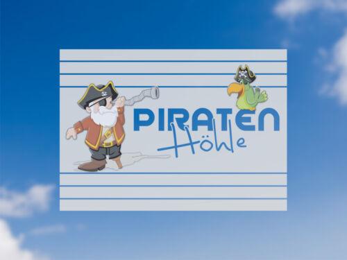 Sichschutzfolie Film De Fenêtre En Couleur Pour Enfants Chambre sort Pirates Grotte Pirate