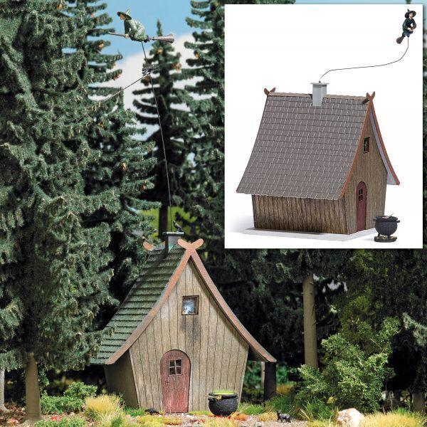 Busch 1679 - 1 87   H0 Hexenhaus mit fliegender Hexe - Neu  | Fierce Kaufen
