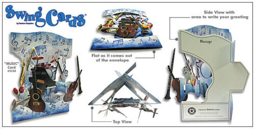 HOME SWEET HOME 3D Swing Cards by Santoro SG-SC-115