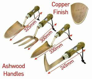 High-Quality-Copper-Finished-Gardening-Hand-Tool-Set-with-Ashwood-handles-Tools