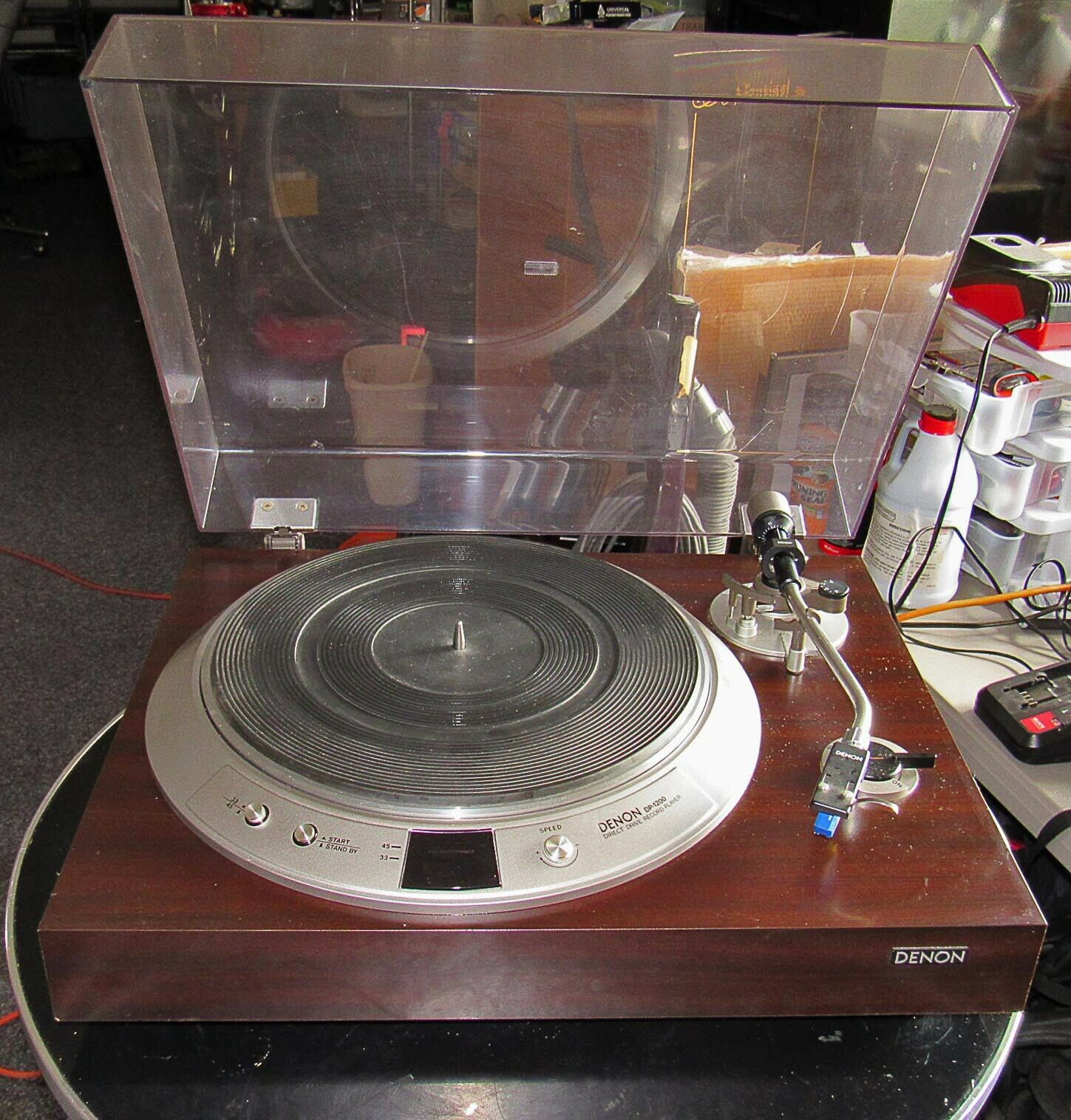denon turntable Dp-1200 used beautiful denon 103 cartridge needs service. Buy it now for 423.00