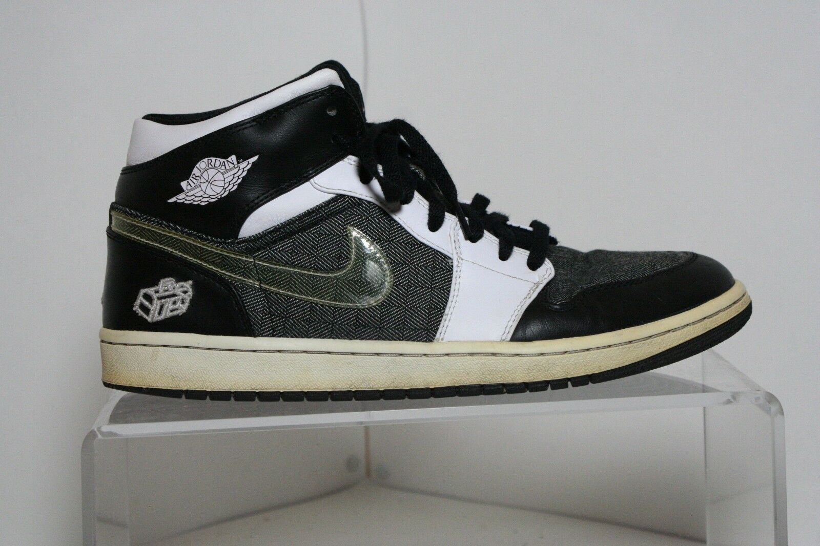 Nike Air Jordan 1 Retro 08' Sneaker Hipster Black Plaid Multi Men 11 Athletic