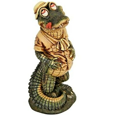 2 to Choose From 19cm Crocodile Indoor Outdoor garden Ornament Figurine Statue