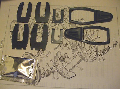 HUMBER Hawk Rear Wheel Cylinder Boots Gaiters Clips Fitting Kits SET Oct 1960-