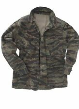 US Army Field jacket Vietnam Tiger Stripe Jungle Shirt M64 Marines Repro Large