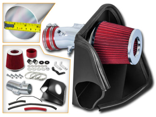 BCP RED For 07-12 Altima V6 3.5L Heat Shield Cold Air Intake Filter