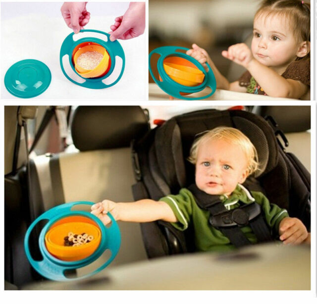 Children Kid Baby Toddler Toy Plate Universal 360 Rotate Spill-Proof Bowl Dishes