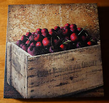 Cherries Country Farm Crate Painted Print Sign Kitchen Cherry Fruit Home Decor