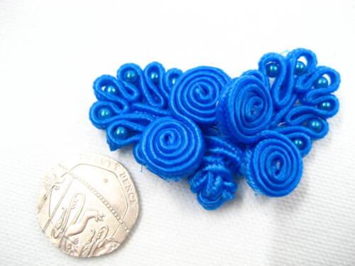 Antiguo Azul Rana Sujetador Surtidos Mariposa Vestido Tarjeta hágalo usted mismo nudo de gancho y ojal