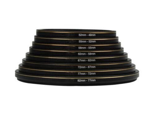 Anillo Retencion 62-58mm de Metal Lente Adaptador 62 58 rosca de filtro-Reino Unido Vendedor