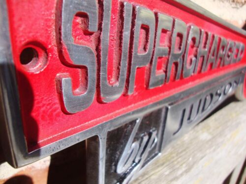 Super Charged By Judson Sign LARGE Garage Sign cast aluminiumDiscontinued VAC054
