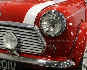 2x-Scheinwerfer-Austin-Mini-Cooper-MG-Rover-MK1-MK6-EU-Clubman-Morris-E-Prufzei