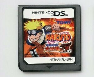 Nintendo DS Naruto Saikyou Ninja Daikesshuu 3 Japan game US seller