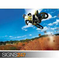 MOTOCROSS STUNT (1731) Picture Poster Print Art A0 A1 A2 A3 A4 - 2nd HALF PRICE!