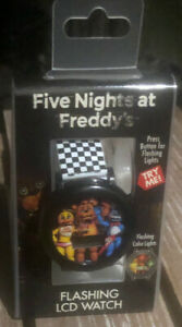 Five-Nights-At-Freddy-s-Rotating-Flashing-LCD-Watch-Video-Game-Watch-NWT
