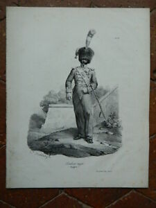 Grabado Hippolyte Bellange Tambor Major Línea N º 85 Gihaut Hermanos