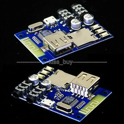 USB/TF/FLAC MP3 Decoding Stereo Bluetooth Audio Receiver Board AUX Amplifier DIY