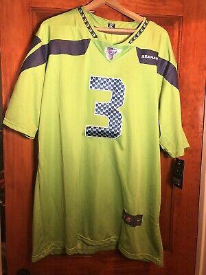 NWT Russell Wilson Seattle Seahawks Lime Green Men's XL Jersey NFL New | eBay