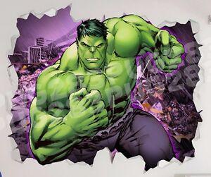 Image Is Loading Hulk Marvel 3D Look Wall Vinyl Sticker Avengers