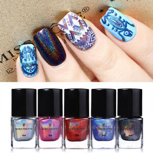 6ml-BORN-PRETTY-Holographic-Nail-Art-Stamping-Polish-Plates-Printing-Varnish-DIY