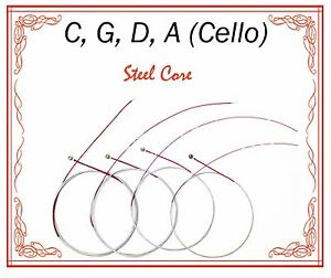 Paititi String Steel Core Beginner Level String Set 4/4 Size Cello High Quality
