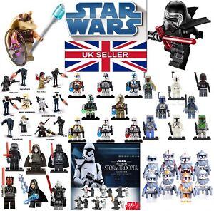 Genuine-LEGO-Star-Wars-Mini-Figues-et-Personnalise-Mini-Figures-Vendeur-Britannique-clone-wars