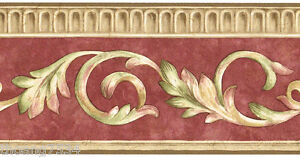 Image Is Loading Architectural Crown Molding Red Beige Brown Scroll Leaf