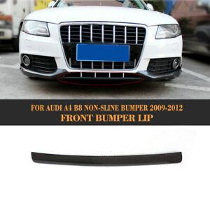 Carbon-Frontspoiler-Spoilerlippe-Front-Schwert-fuer-Audi-A4-B8-2009-12-Non-Sline