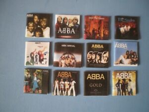 Dolls-House-miniatures-Music-albums-ABBA-x-12