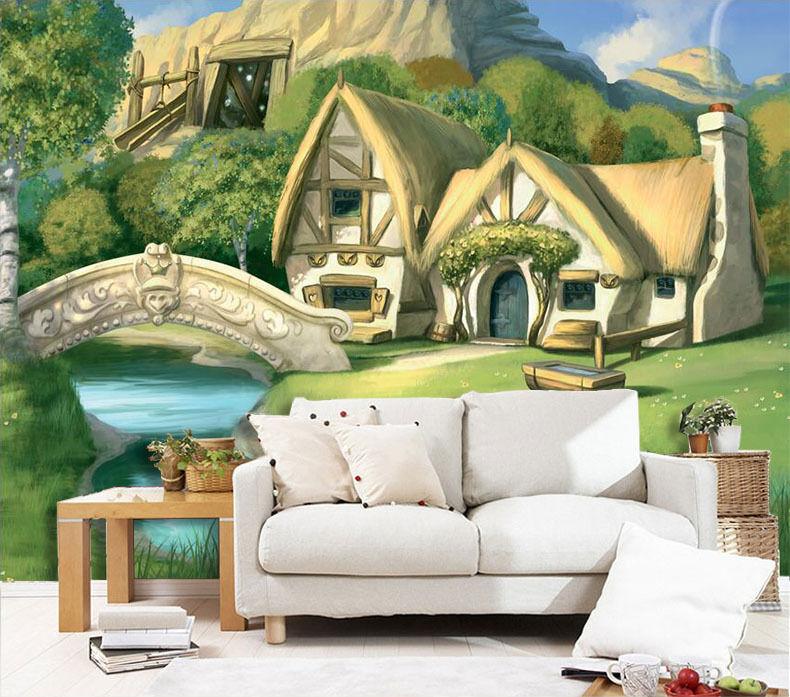 3D Lakeside Villa Scenery 872 Wall Paper Wall Print Decal Wall Deco Indoor Wall