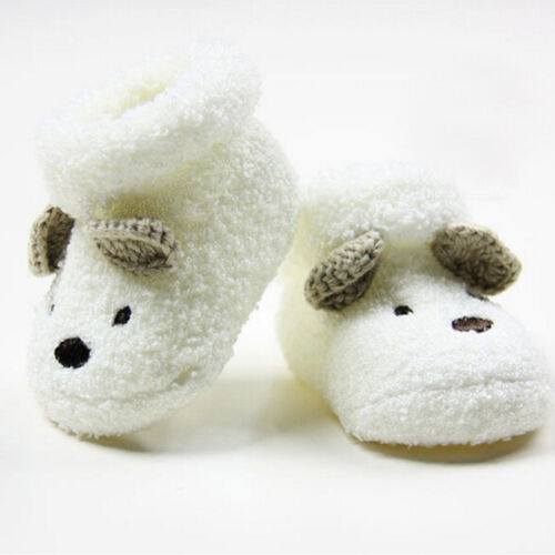 Neugeborene junge Mädchen Socken Infant Cute Bear Krippe warme Schuhe Socken
