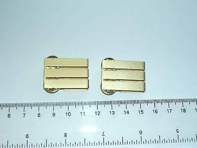 Luftfahrt Dienstgrad Abzeichen Lufthansa Für Mantel Metall 3 Balken 1 Paar