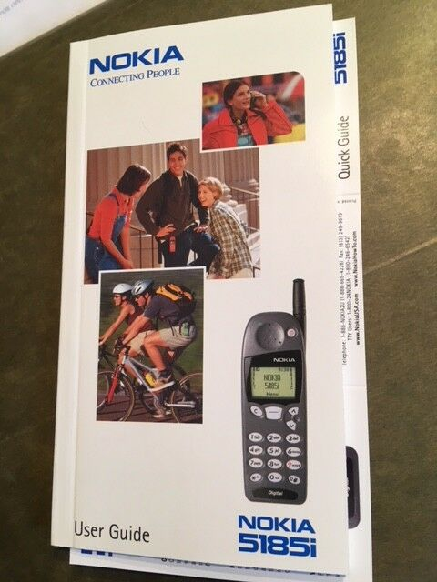 NOKIA 5185i Cell Phone User Guide Manual New