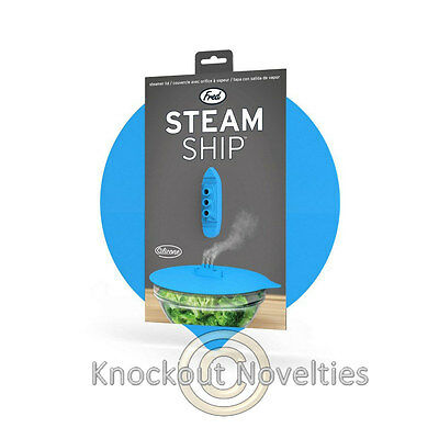 Steam Ship Steaming Lid Fred Steamship Pot Hot Cover Gift Kitchen Cook Silicone