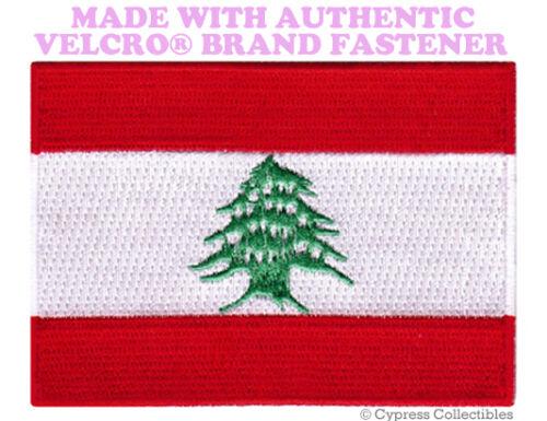Lebanese Flag Patch Liban brodé Arabe Emblème avec velcro ® marque Fastener