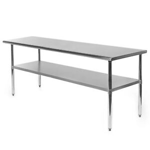 Commercial-Stainless-Steel-Kitchen-Food-Prep-Work-Table-24-034-x-72-034