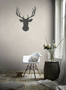 STAG HEAD DESIGN VINYL WALL ART WALL DECAL COOL BOX FRAME OPTION