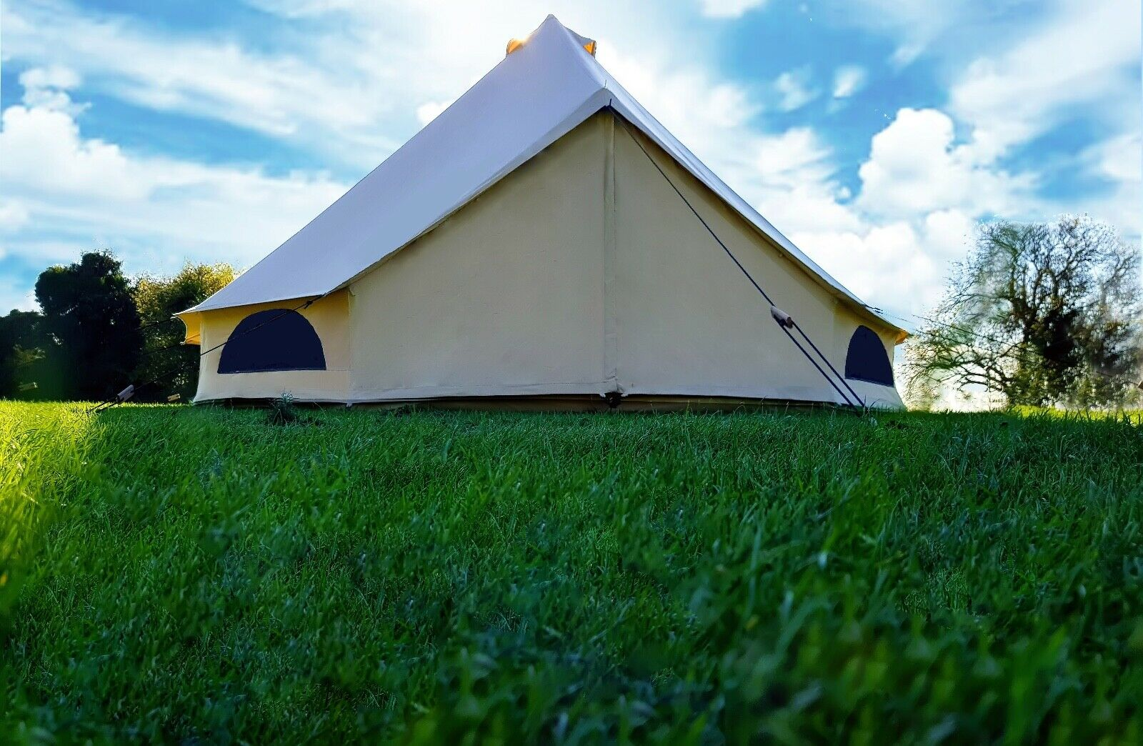 4m Cotton Canvas Bell Tent With Zipped In Groundsheet By Bell Tent Village