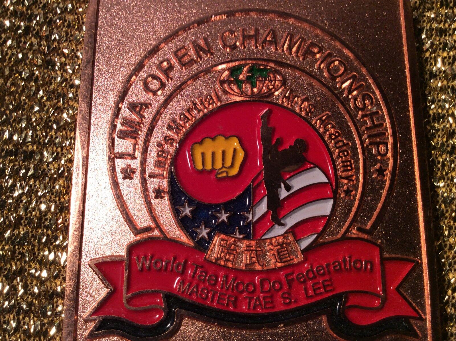 LMA Open Championship Championship Championship World Tae Moo Do Federation Master Tae S. Lee Medal 421d3e