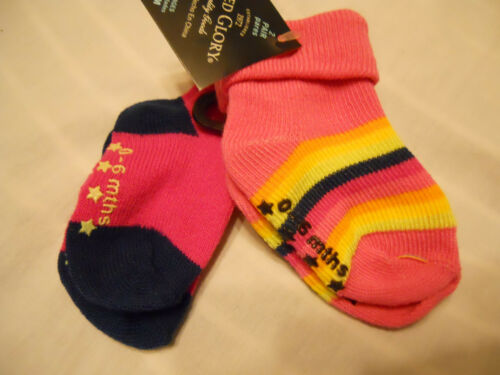 Infant Non-Skid Socks Faded Glory Boy Girl S 0-6M 6-18M 18-36M 3-5 Years NEW