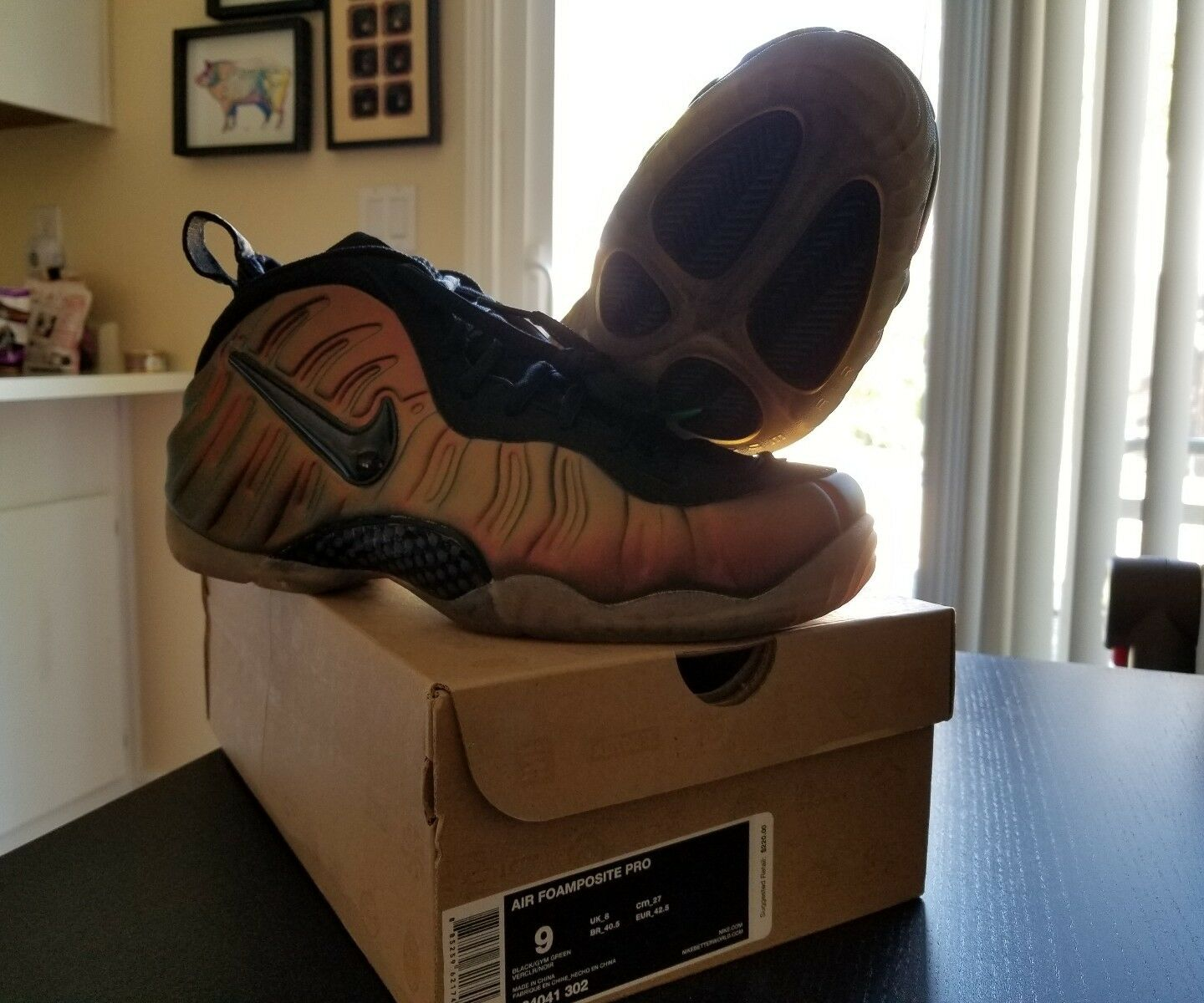 New Authentic Nike AIR FOAMPOSITE PRO GYM GREEN Deadstock BLACK Sz 9 624041-302 Deadstock GREEN bfe3b7