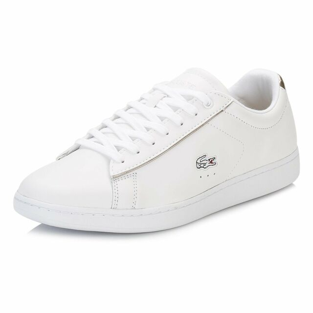 4974e16df LACOSTE Womens Carnaby Evo 316 1 Leather Fashion Sneakers White US 9 EUR  40.5