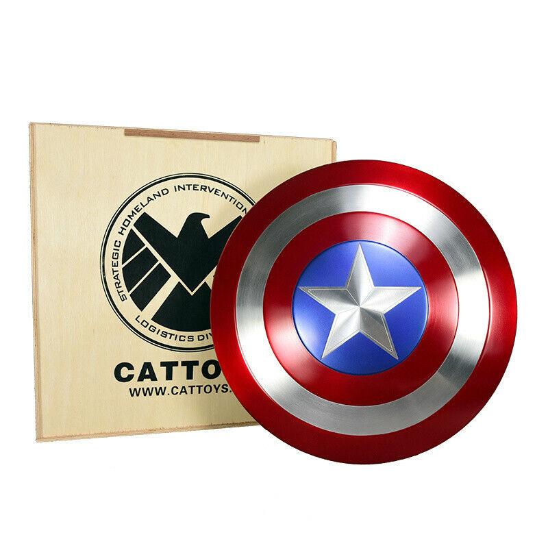 Metal cattoys 1 1 Vengadores Capitán América Escudo réplica & Utilería versión Perfecto