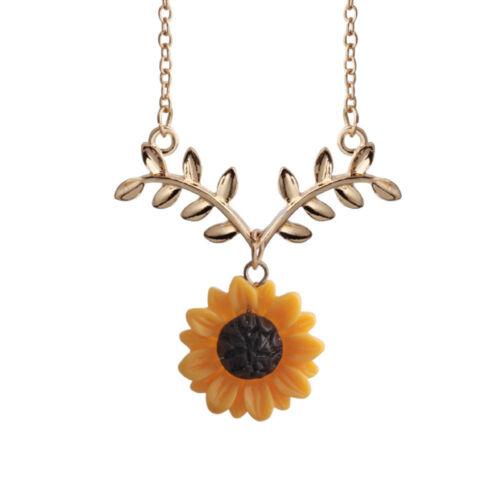 Les filles de tournesol Collier Pendentif Boucle d/'oreille Imitation Perles Bijoux Pull chaîne