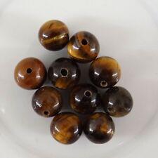 10 perles rondes en oeil de tigre 8 mm-vtp024