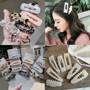 2019-Women-Pearl-Hair-Clip-Snap-Barrette-Stick-Hairpin-Bobby-Hair-Accessories