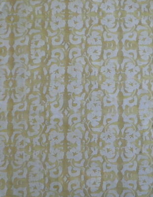 FORTUNY FABRIC Shiraz yellow and white New Long staple cotton Venice, Italy