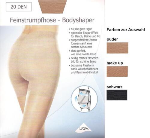 transparent-20den div.Fbn.+Gr BODYSHAPER  figurformende Strumpfhose *disee*