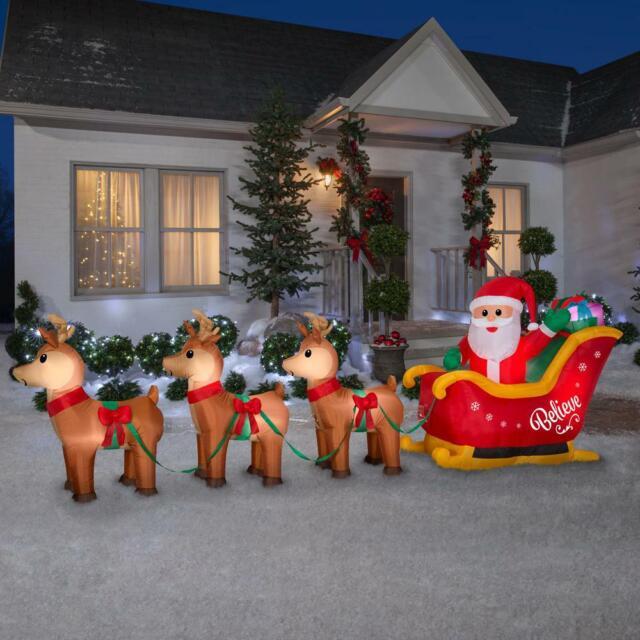 Santa/'s Sleigh Dolls House Miniature Xmas Time Christmas Hols